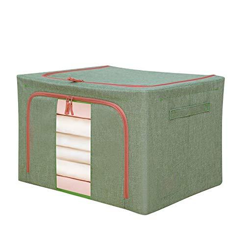 SmallYin Aufbewahrungsbox Mit Deckel Groß Aufbewahrungstasche, Faltbare Unterbett R Kleideraufbewahrung, WäSchesammle,Unterbett Aufbewahrungsbeutel FüR Bettdecken,Steppdecken,Kleidung,Decken