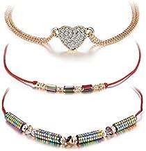 Transmit love 3pcs/lot Bracelet for woman Zircon love alloy bracelet color magnet series red line combination weaving jewelry
