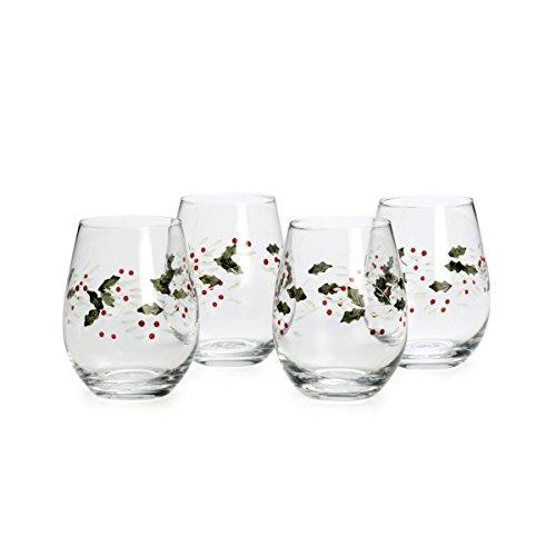 Pfaltzgraff Winterberry Stemless Wine Glasses (Set of 4)