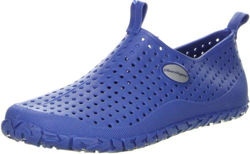 G&G Damen Herren Badeschuhe Schwimmschuhe Sanitized blau, Größe:45, Farbe:Blau