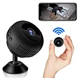 Mini Spy Camera, WiFi Wireless Hidden Camera 1080P Full HD, Portable Home Security Surveillance Tiny Nanny Cam with Night Vision Motion Detection for Car Indoor Outdoor