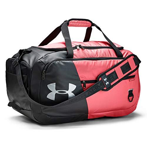 Under Armour Erwachsene Undeniable 4.0 wasserabweisender Duffel Bag, sportliche Umhängetasche fürs Training, Größe M Navy, Pink, 62 cm