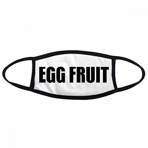 DIYthinker Ei Fruit Fruit Naam Voedsel Mond Gezicht Anti-stof Masker Anti Koud Warm Wasbaar Katoen Gift