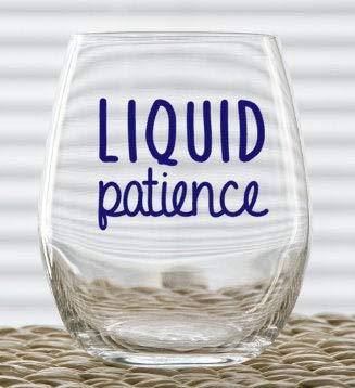 Vaso de vino líquido Patience, divertido vaso de vino de Navidad, 17 onzas