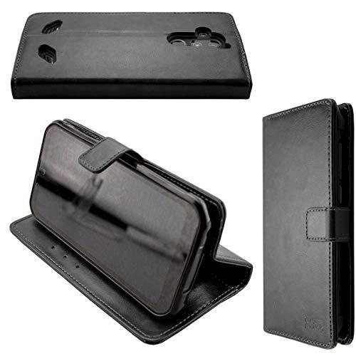caseroxx Handy Hülle Tasche kompatibel mit Gigaset GX290 / GX290 Plus Bookstyle-Hülle Wallet Hülle in schwarz