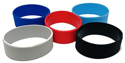 slimpuro slimpuro Silikon Bänder für Carbon Slim Wallet - Ersatzbänder - Geldklammer