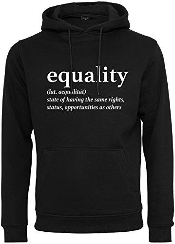 Mister Tee Damen Equality Definition Hoodie Kapuzenpullover Black L
