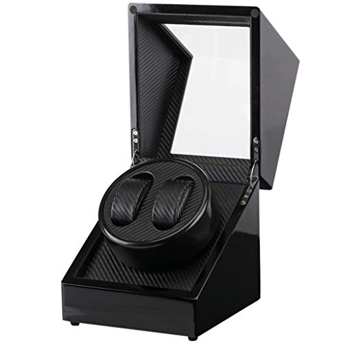 Yxx max Uhrenbeweger fur automatikuhren Uhrenbeweger Boxen Automatische 2 + 0 Uhrenbeweger High-End Uhrenbox Plattenspieler Ausrüstung Mechanische Uhr Schwarz Aufbewahrungsbox