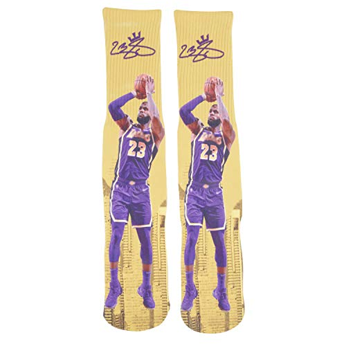Lebron James #23 Away Basketball Socks Lebron James Autographed - One Size 6-13 Years - For All Basketball Fans (Size 6-13, James Socks)