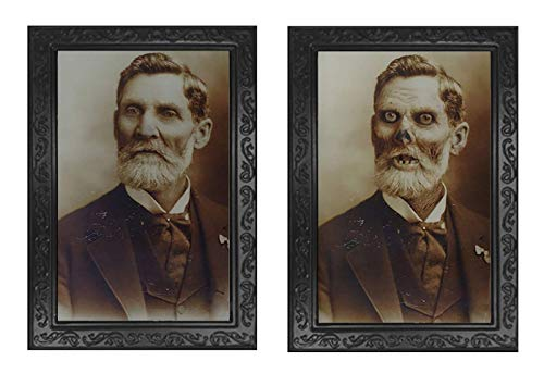 RENS Halloween 3D Change-Face Fotolijst, People-Ghost-Change Fotolijst, Scary Decorations Rekwisieten voor een feestje van Haunted House #4