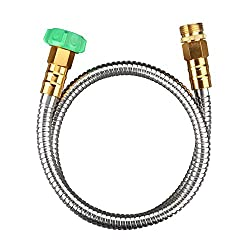 powerful BEAULIFE 304 Stainless Steel Metal Short Garden Hose 3ft Flexible, easy to carry, easy to bend …