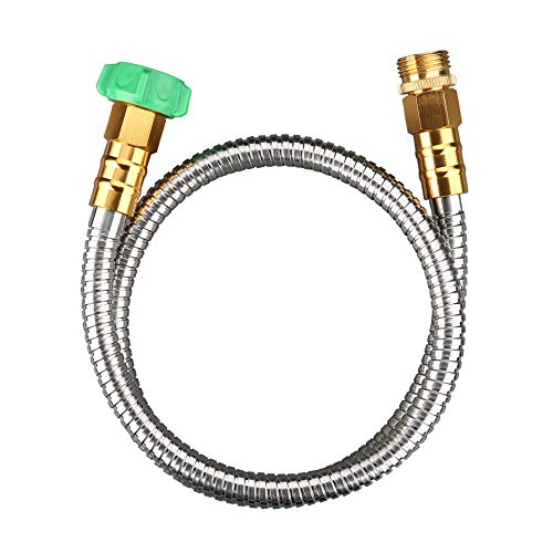BEAULIFE 304 Stainless Steel Metal Short Garden Hose 3 Feet Flexible, Portable & Lightweight Kink Free Garden Water Outdoor Hose