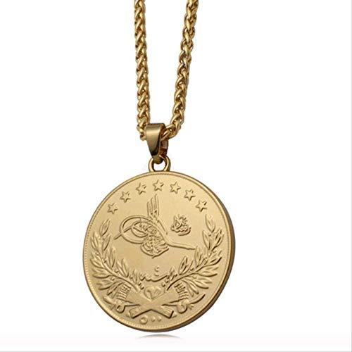 niuziyanfa Co.,ltd Golden Islamisch Arabisch Türkisch Anhänger Halskette Muslim Osmanische Amulett Halskette Schmuck