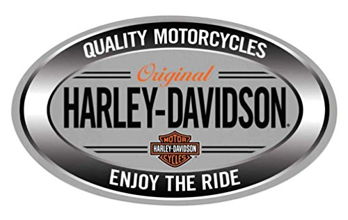 Harley-Davidson Enjoy Ride Oval Embossed Tin Sign, 18 x 10.5 inches 2011591