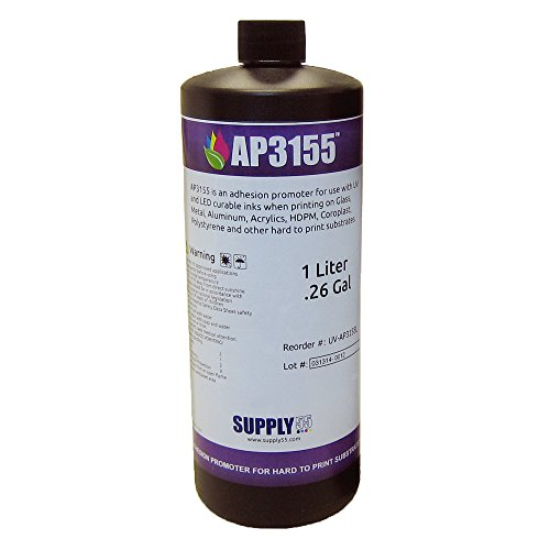 AP3155 Adhesion Promoter for Hard to Print Substrates; Glass, Alum, Acrylic, Metal, Liter Bottle