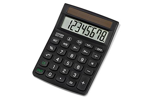 Citizen ECC210 Taschenrechner, schwarz