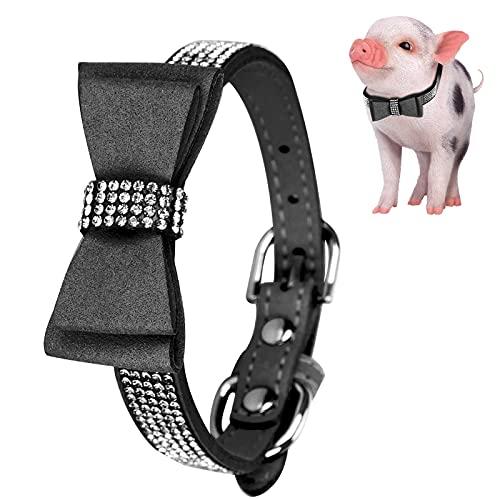 Sdfafrreg Collar de Perro Ajustable, Collar de Gato Firme para Perro para Mascota para Gato(Black, S)