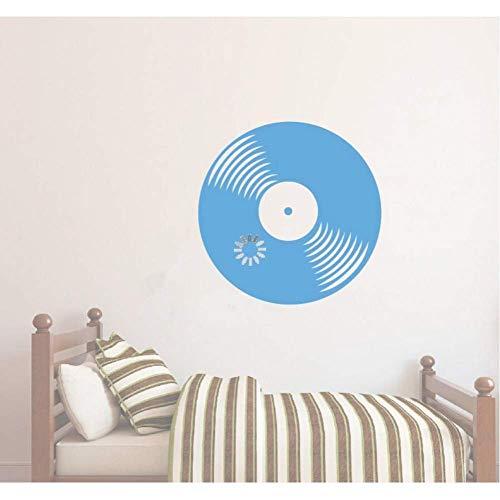 Muursticker vinyl sticker vinyl plaat CD retro klassieke muziek huis woonkamer kunstdecoratie reposter 57 * 57cm