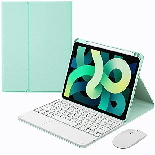 Funda con teclado para iPad Pro 11 pulgadas 3.a generación 2021, 2.a generación 2020, 1.a generación 2018 - Teclado BT desmontable magnético con panel táctil con portalápices y mouse Bluetooth