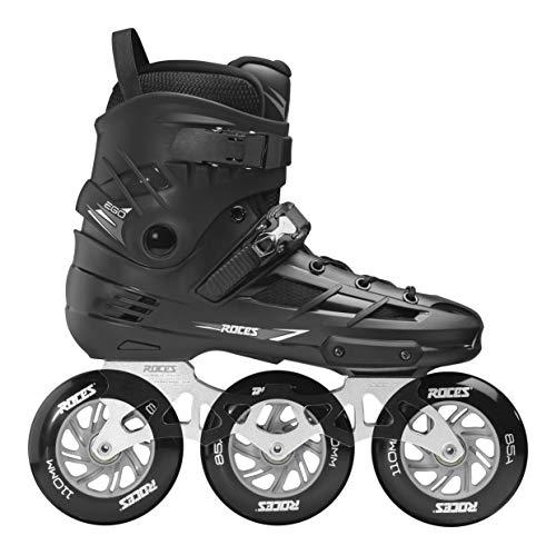 Roces Unisex– Erwachsene EGO 3X110 TIF Inline-Skates, Black-Silver, 36