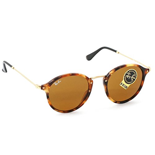 Ray Ban RB2447 Round 1160 Spotted Brown Havana Sunglasses 49mm