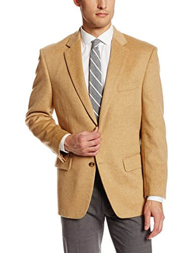 Palm Beach Men's Cotter Sport Coat, Camel Camel Hair, 44 Regular