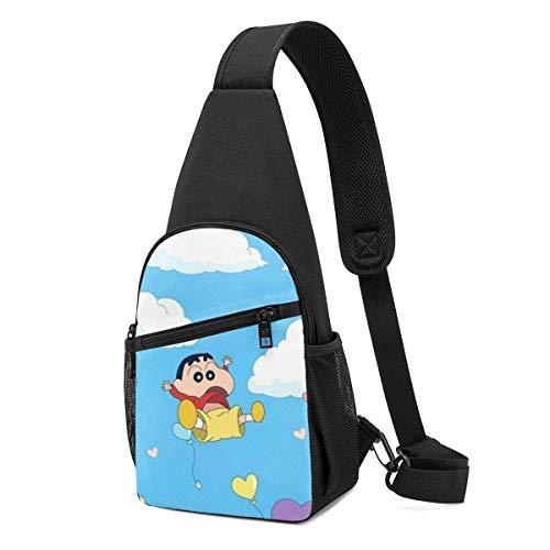 Sling Backpack Casual Happy Crayon Shin chan Crossbody Daypack Shoulder Bag Chest Bag Rucksack