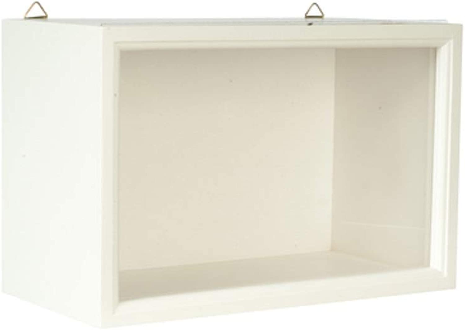 Dollouse White Shadow Room Box for Display of Miniatures Ready Assembled