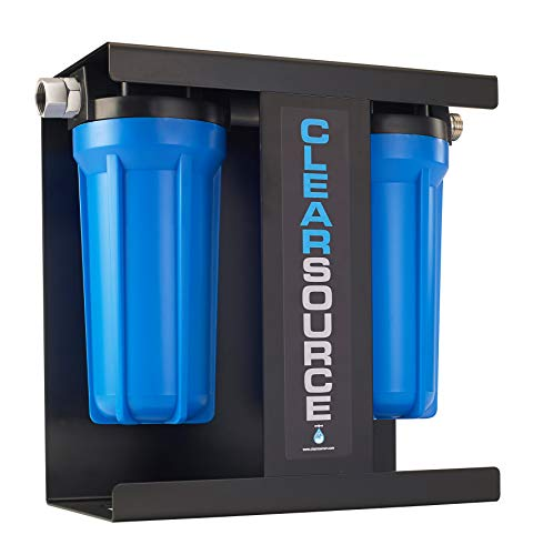 Product Image of the Clearsource Premium RV Water Filter System | Pristine Water. Unparalleled Water Flow. Built-in Stand.