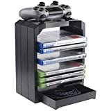 Geekhome - Universal Games Storage Tower para 10 juegos, compartimento...