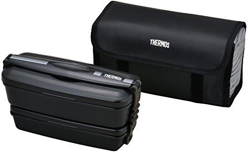 サーモス 弁当箱 2段 フレッシュランチボックス 900ml ブラックグレー DJB-905W BKGY