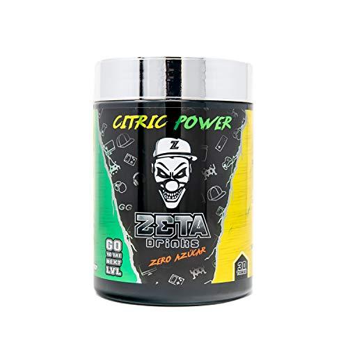 ZETA DRINKS Bebida Energética para gamers en polvo TUBO TRES SABORES Energía para Esports Y Creadores 300g   30 Raciones (Limón)
