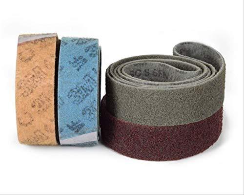2 Stück 760 * 40 mm Vlies-Schleifband aus Nylon-Schleifgewebe Schleifband auf Metallbandschleifmaschine für gebürstete Polierdrahtzeichnung400#