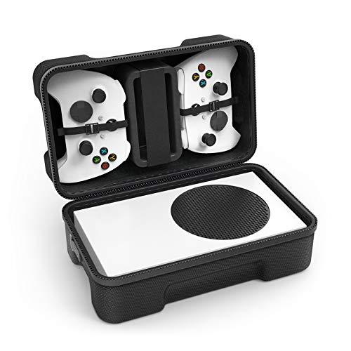 SHBC Étui de Transport Rigide Compatible avec la Console de jeu Xbox Series S Sac de Rangement de Voyage pour Contrôleurs Sans Fil et...