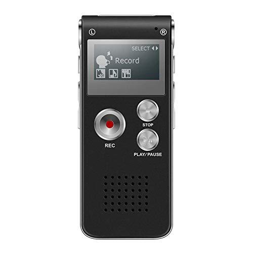 Diktiergerät, GLTECK Digitales Diktiergerät 536 kbps hohe Aufnahmequalität 8 GB Lärmreduzierung MP3 automatisch aktivierter Recorder wiederaufladbarer Akku für Meetings/ Vorträge/Interviews