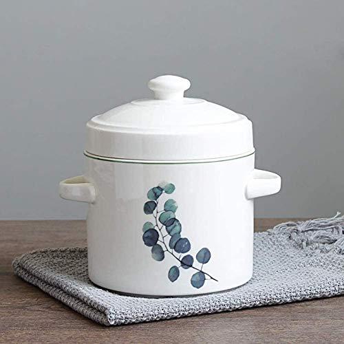 XY-M Estofado de Vapor de cerámica con Doble Tapa de Sopa de Vapor guiso de toneladas de toneladas de pájaro tónico B 30 oz (850 ml)