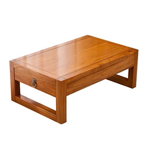 End Tables Table Tatami Coffee Table Bed Table Home Solid Wood Bay Window Table Low Table Balcony Small Coffee Table with Drawers Low Table Best Gift (Color : A, Size : 504030CM)
