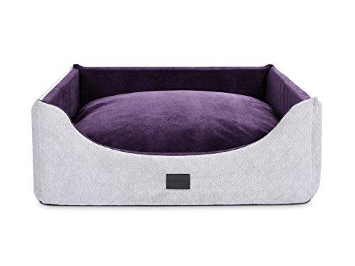 PadsForAll Hundebett Alma Trendline in Silber-violett mit Wendekissen, auch mit...
