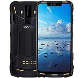 DOOGEE S90 - Smartphone Android 8.1 Polyvalent pour l'extérieur (Batterie 5050mAh), Helio P60 Octa-Core 6 Go + 128 Go, écran FHD + 6.18 '', IP68 étanche, Robuste Telephone 16MP + 8MP (Orange)