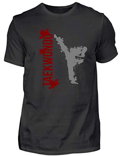 Taekwondo Taekwon-Do - Maglietta da uomo per arti marziali, design semplice e divertente Nero L