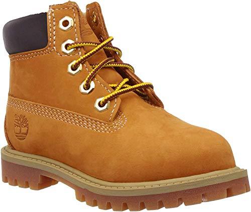 Timberland Unisex-Kinder 6-Inch Premium Waterproof Boot Klassische Stiefel, Gelb (Wheat Nubuck), 37 EU