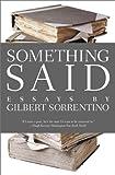 Something Said (American Literature (Dalkey Archive))