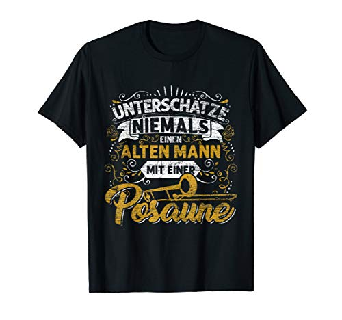 Geschenk Posaunenspieler Orchester Blasmusik Männer Posaune T-Shirt