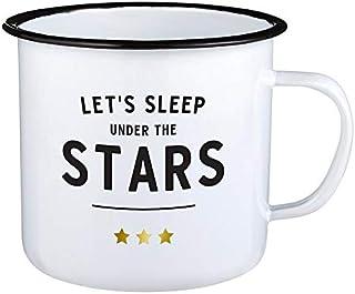 Santa Barbara Design Studio SIPS Drinkware Enamel Mug, 24-Ounce, Stars