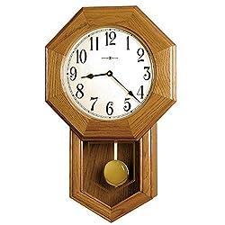 Howard Miller Elliot Wall Clock 625-242 – Golden Oak with Quartz, Triple-Chime Movement
