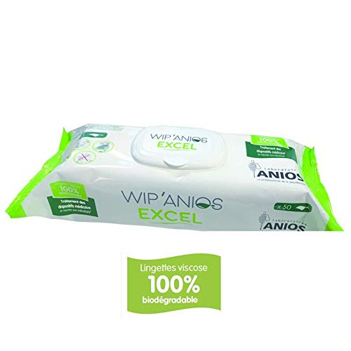 Laboratoires Anios Toallitas limpiadoras y desinfectantes WIP Anios Excel - Bolsa de 50 toallitas