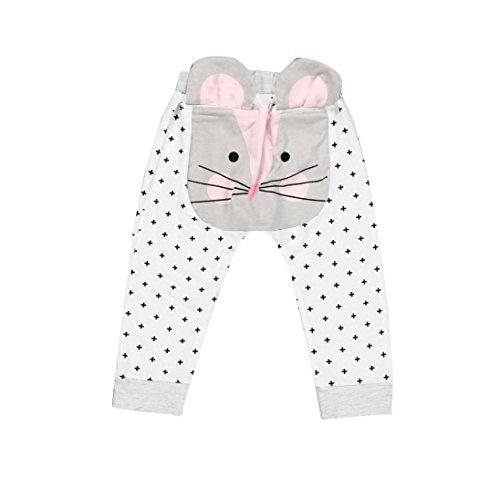 Ouneed® 6- 24 mois Bebe Motifs Pantalons en coton (24m, Blanc)