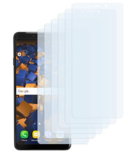 mumbi Schutzfolie kompatibel mit Samsung Galaxy A9 2018 Folie klar, Bildschirmschutzfolie (6X)