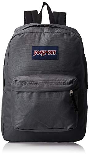 JanSport SuperBreak One Backpack - Stylish School Bag | Deep Grey, One Size