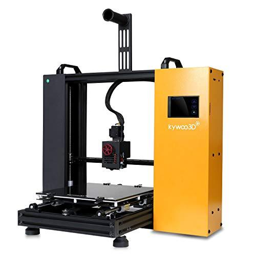 Stampante 3D Kywoo Tycoon Max, Printer 3D FDM Super Silenziosa, 3D Printer da Te con Livellamento Automatico e Funzione di Trasmissione WiFi,Scheda Madre 32 Bits e HD Touchscreen (300x300x230mm)